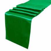 OurWarm Emerald Green Satin Table Runner 30.5cm x 274.3cm (Inch) Wedding Party Table Decoration