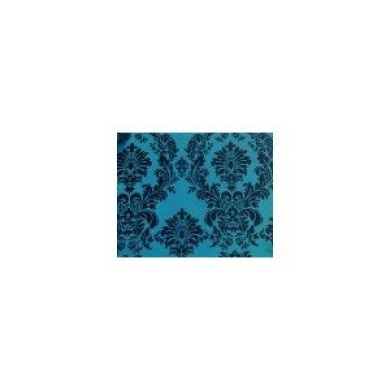Taffeta Flocking Damask Table Runner. 33cm X 228.6cm - Turquoise