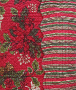 Quilted Reversible 100% Cotton Table Runner 14 By 129.5cm Poinsettia and Pinecones