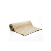 Letters Taupe Table Runner