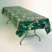 Camouflage Plastic Tablecloth 137.2cm x 274.3cm