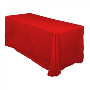 228.6cm x 335.3cm . Rectangular Polyester Tablecloth Red
