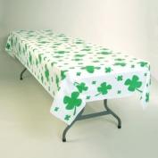 Shamrocks Plastic Banquet Tablecloth 137.2cm x 274.3cm