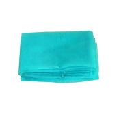 OurWarm Aqua Blue Organza Table Overylay Cover Square 182.9cm x182.9cm