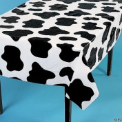 2 Cow Spots Table Cloth Covers Farm Barnyard Animal Birthday Party 137.2cm x 182.9cm