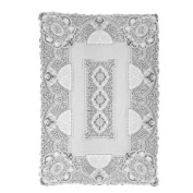 Heritage Lace Canterbury Classic 177.8cm by 274.3cm Rectangle Tablecloth, White
