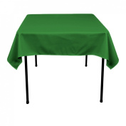 137.2cm . Square Polyester Tablecloth Valley Green