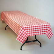 Red Gingham Plastic Tablecloth 30m Roll