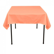 137.2cm . Square Polyester Tablecloth Peach