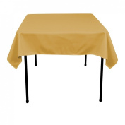 137.2cm . Square Polyester Tablecloth Copper