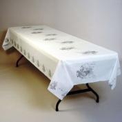 Wedding Bells Plastic Banquet Tablecloth 101.6cm x 100' Roll