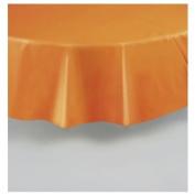Orange Plastic Table Cover Round