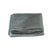 OurWarm Grey Dark Silver Organza Table Overylay Cover Square 182.9cm x182.9cm