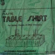 Premium Plastic 73.7cm x 35.6cm Table Skirt- Emerald Green