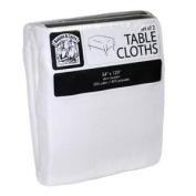 Bakers & Chefs 137.2cm x 304.8cm Tablecloths White - 2pk