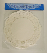 12 White Paper Lace Doilies 26.7cm Round Table Craft Decor