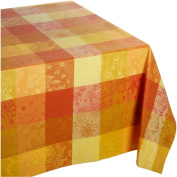 Garnier Thiebaut Mille Couleurs 100-Percent Cotton 180.3cm by 180.3cm Tablecloth, Soleil