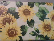 Sunflower Vinyl Tablecloth 152.4cm Round