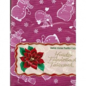 Vinyl Tablecloth with Flannel Back 132.1cm X 228.6cm Oblong Holiday Snowmen and Snowflakes