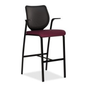 Hon Cafe Height Stool, 25 by 62.2cm by 118.1cm , Wine