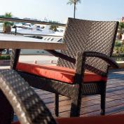 Soho Patio Dining Arm Chair in Rehau Fibre Java Brown Finish