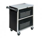 Vollrath 97181 Stainless Steel Busing Carts with 3 Shelves, 85.7cm , Black