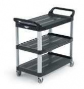 Vollrath Black 101.6cm Multi-Purpose Plastic Cart