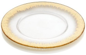 IVV Glassware Orizzonte 34.3cm Round Charger, Clear with Gold Decoration