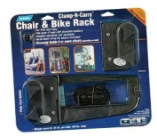 Camco 51430 RV Clamp-N-Carry Chair and Bike Rack
