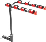 4-Bike Hitch Mounted 2.5cm - 0.6cm or 5.1cm Receiver Bicycle Carrier Rack