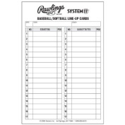Rawlings System 17 Baseball/Softball Lineup Cards