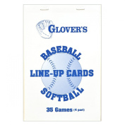 Glovers Scorebooks Baseball/Softball Line-Up Cards, Large