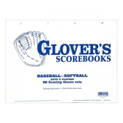 Glovers Scorebooks Baseball/Softball 50 Scoring Sheets
