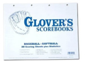 Glovers Scorebooks Baseball/Softball Scoring and Stats Sheets