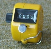 Hand Tally Counter - Yellow