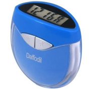 Daffodil HPC907B Multi-function Pedometer - Step Counter that uses Personal Weight and Stride Length to Calculate Calories Burnt - With Digital Clock - Blue