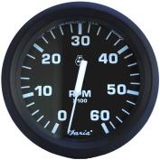 Faria Euro Series Black Tachometer for I/O and I/B