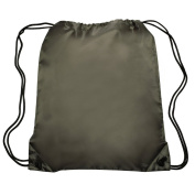 Nylon Sports Drawstring Backpack Bag Durable, Lightweight, Army Green