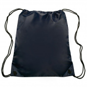 Nylon Sports Drawstring Backpack Bag Durable, Lightweight, Navy Blue