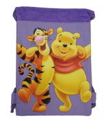 Purple Winnie the Pooh Drawstring Bag - Kids Drawstring Backpack