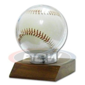 BCW Wood Base Baseball Holder with Real Walnut ! Great Looking and Affordable Sports Memorabilia Holder to Display your Favourite Autograph Baseball ! Makes a Great Gift !