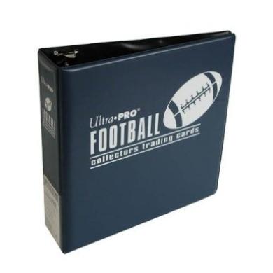 Ultra Pro 3-Ring (D-Ring Binder) Blue Football Card Album