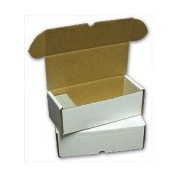 BCW 330 count Storage Box - Corrugated Cardboard Storage Box - Baseball, Football, Basketball and Hockey cards