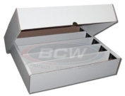 BCW FULL LID Super Monster 5 Row Storage Box (5000 Ct.) - Corrugated Cardboard Storage Box - Baseball, Football, Basketball, Hockey, NASCAR, Sportscards, Gaming & Trading Cards Collecting Supplies