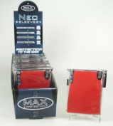 MAX Protection 50 Count Standard Gaming Card Sleeves Flat Red