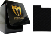 (1) Max Protection Black Vertical Trading Card Deck Box Armour - MP-100L DAOK