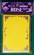 Yellow Metal Rose Card Sleeves