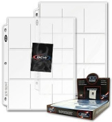 50 BCW 9 Pocket Page Protectors Fits 3-Ring Binder for Baseball and Other Sports Cards!