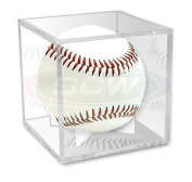 BallQube Grandstand Baseball Holder Display - A BETTER WAY TO DISPLAY Sports Memoriablia Display Case, Standard UV Coating