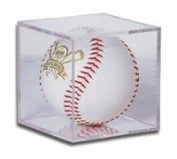 BallQube Softball Holder Display - Sports Memoriablia Display Case - Sportscards Collecting Supplies